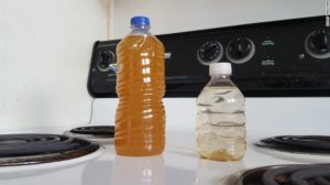 Water bottles filled with contaminated water in St Joseph LA